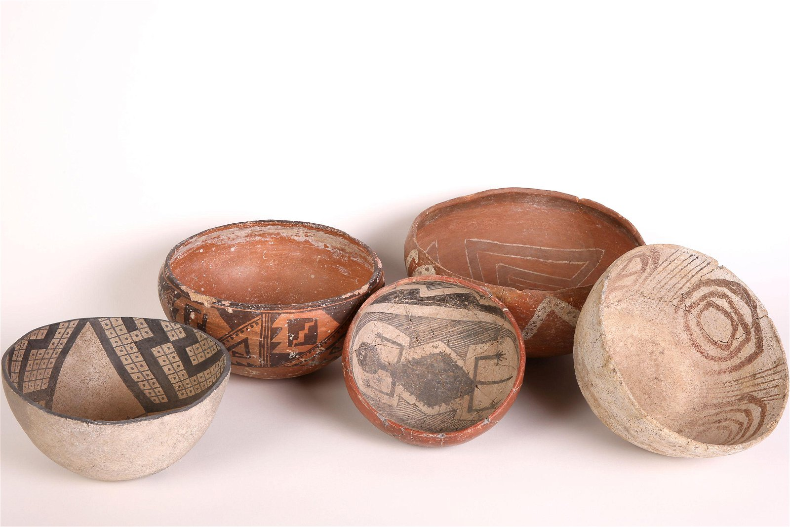 Group of Five Prehistoric Bowls