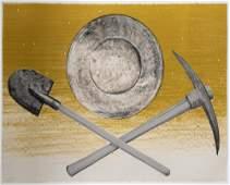 Ed Ruscha, Pick, Pan, Shovel, 1980