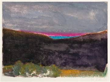 Wolf Kahn, Dark Sunset, 1993