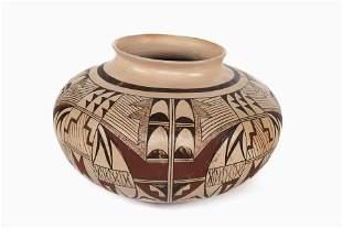 Hopi, Attributed to Dawn Navasie, Polychrome Jar, 1987
