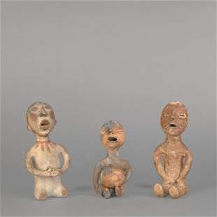 A Group of Three Tesuque and Pueblo Rain Gods, ca. 1900