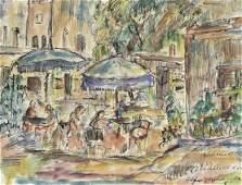 Alfred Morang, Untitled (City Scene), 1954