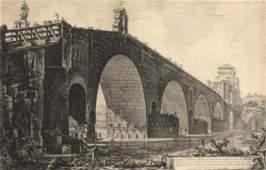 Giovanni Battista Piranesi, Veduta del Ponte Molle...