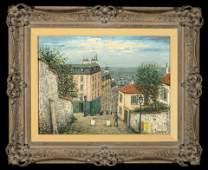 Alois Lecoque, Untitled (Village Scene)
