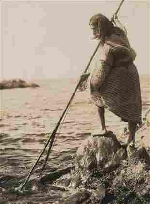 Edward Curtis, Nootka Method of Spearing, 1915
