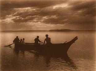 Edward Curtis, Homeward - Puget Sound, 1898
