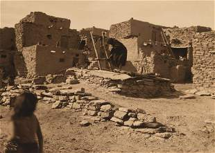 Edward Curtis, Untitled (Standing Atop a Kiva), ca.
