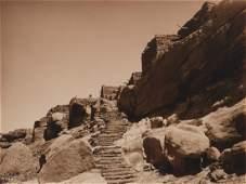 Edward Curtis, Untitled (Stairway to Shipaulovi), 1906