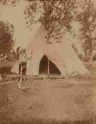 Edward Curtis, Untitled (Two Leggings Lodge), 1908