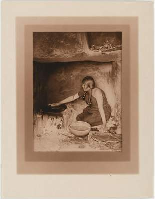 Edward Curtis, The Piki Maker, 1906
