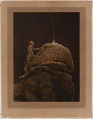 Edward Curtis, Signal Fire to the Mountain Gods, ca.