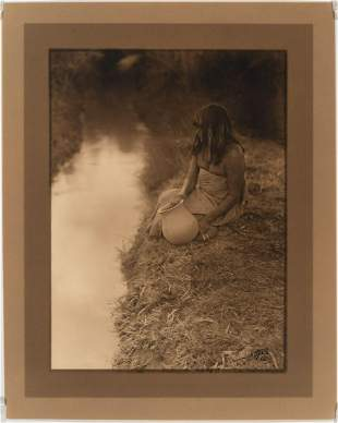 Edward Curtis, By the Canal - Maricopa, 1907