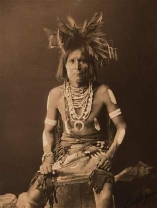 Edward Curtis, A Snake Priest - Hopi (Variant), 1900