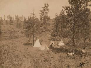 Edward Curtis, A Hill Camp - Spokane (Variant), 1909