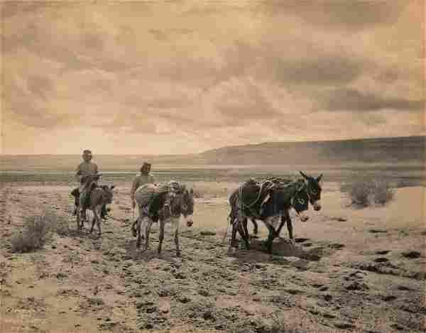 Edward Curtis, Untitled (Hopi Men with Donkeys and