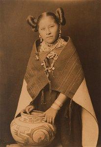 Edward Curtis, Untitled (Moki Girl with Jar), 1900