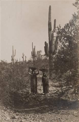 Edward Curtis, Untitled (Gathering Cactus Fruit), 1907