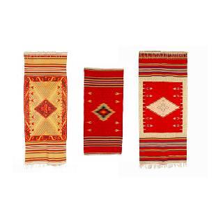 Mexico, Group of Three Saltillo Serape Textiles, 20th