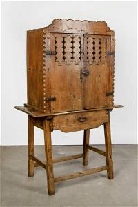 Spanish Colonial, Mexico, Sabino Wood Cheese Cooler
