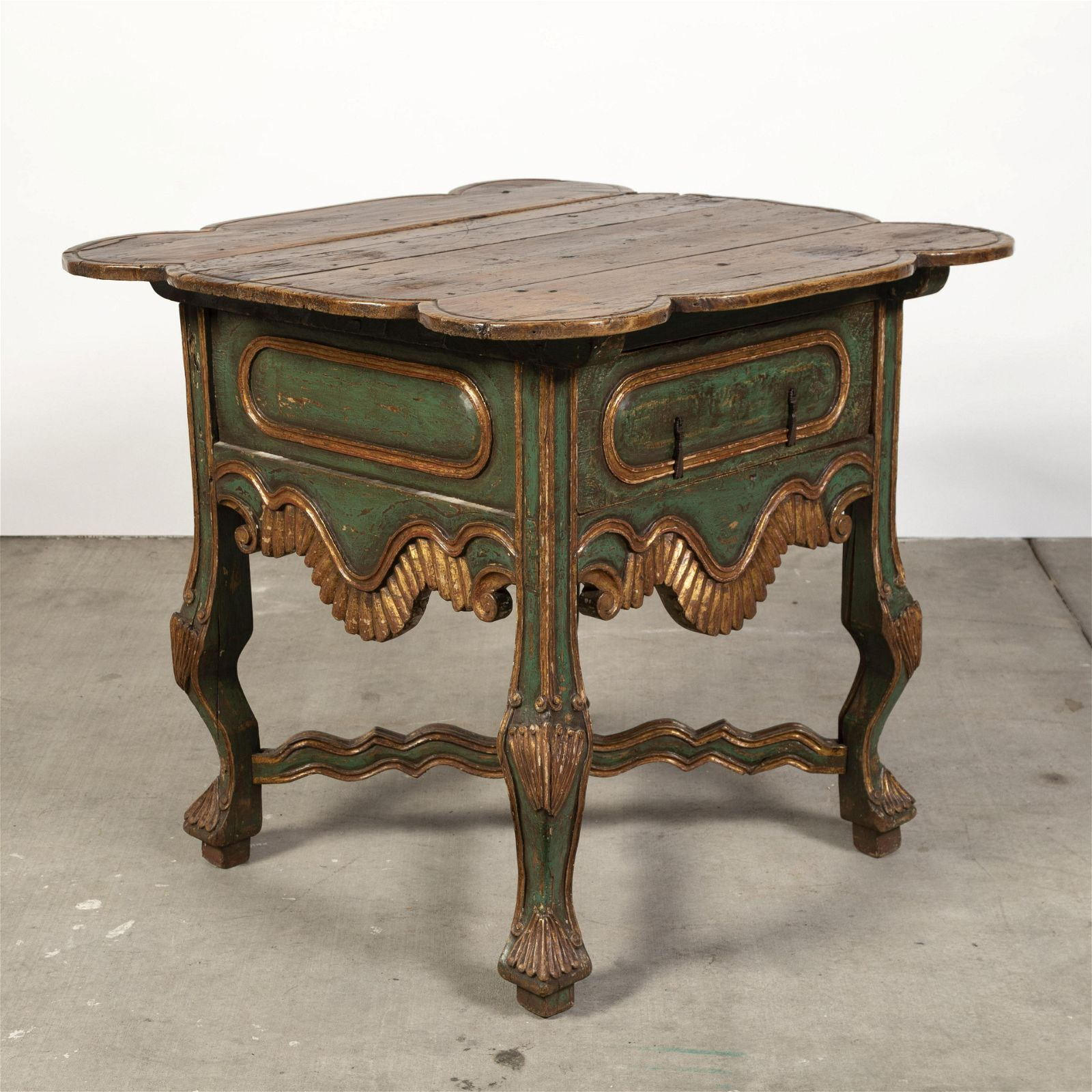 Spanish Colonial, Peru, Painted and Gilt Table