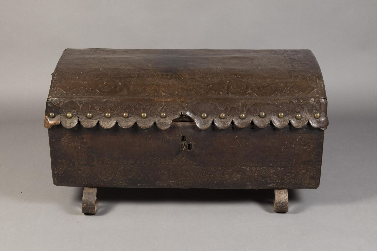 Spanish Colonial, Peru, Tooled Leather and Cedar Chest