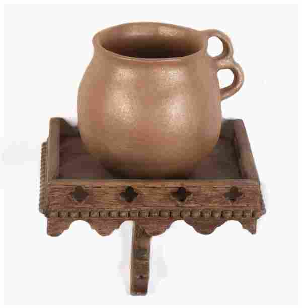 New Mexico, Wood Repisa Shelf and Micaceous Pot