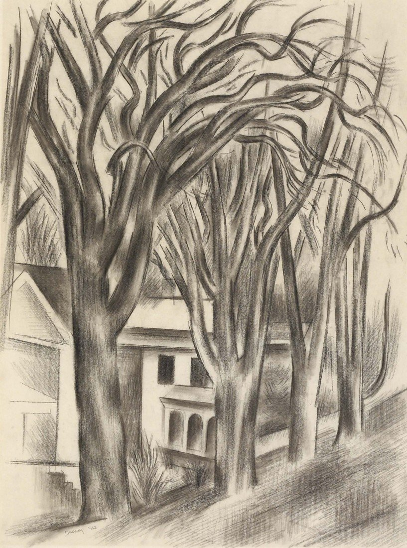 11: ANDREW DASBURG, House and Trees, 1933