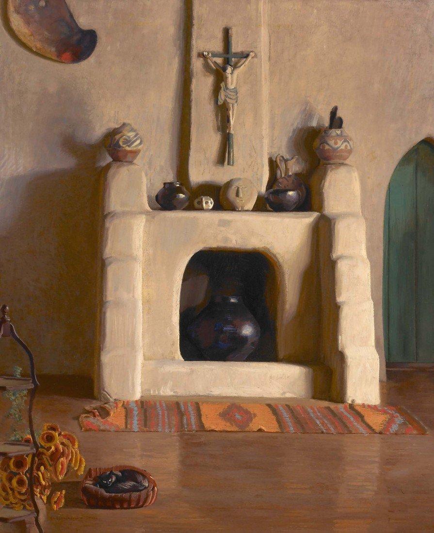 76: ERNEST L. BLUMENSCHEIN, Studio Fireplace