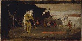 GEORGE DE FOREST BRUSH, Dance Scene, Ca.1882-1883