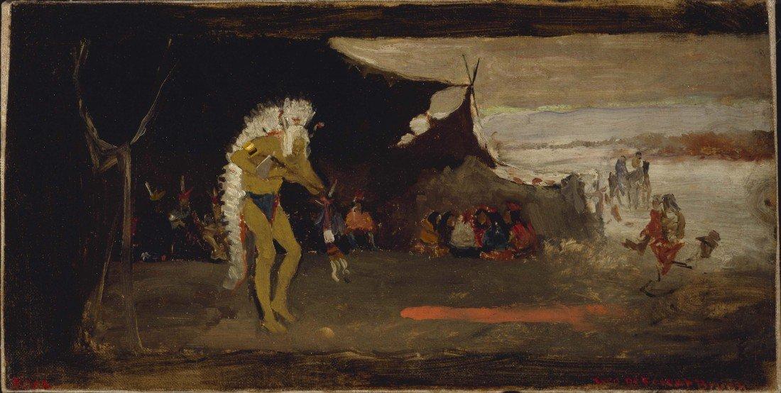 79: GEORGE DE FOREST BRUSH, Dance Scene, ca.1882-1883