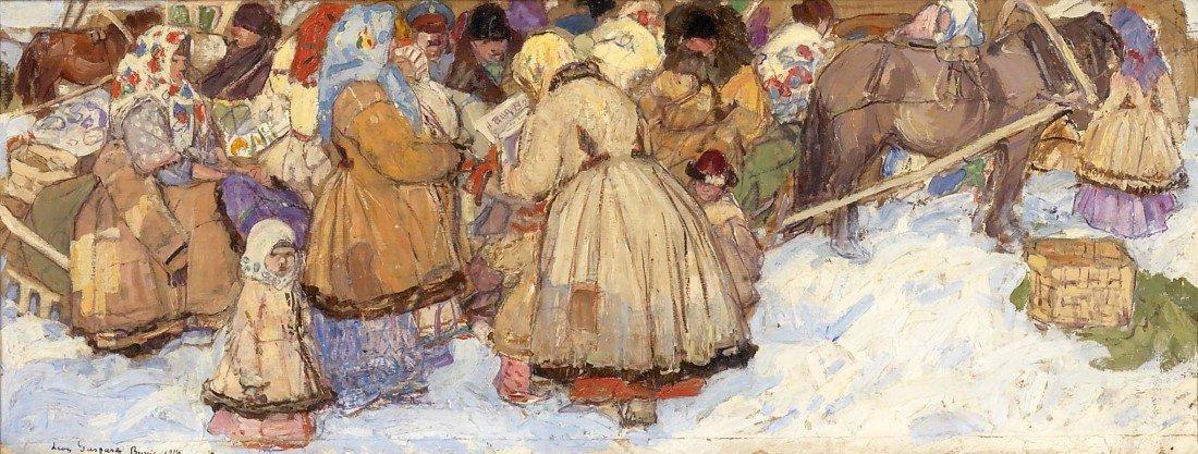 81: LEON GASPARD, Berne in Winter, 1914