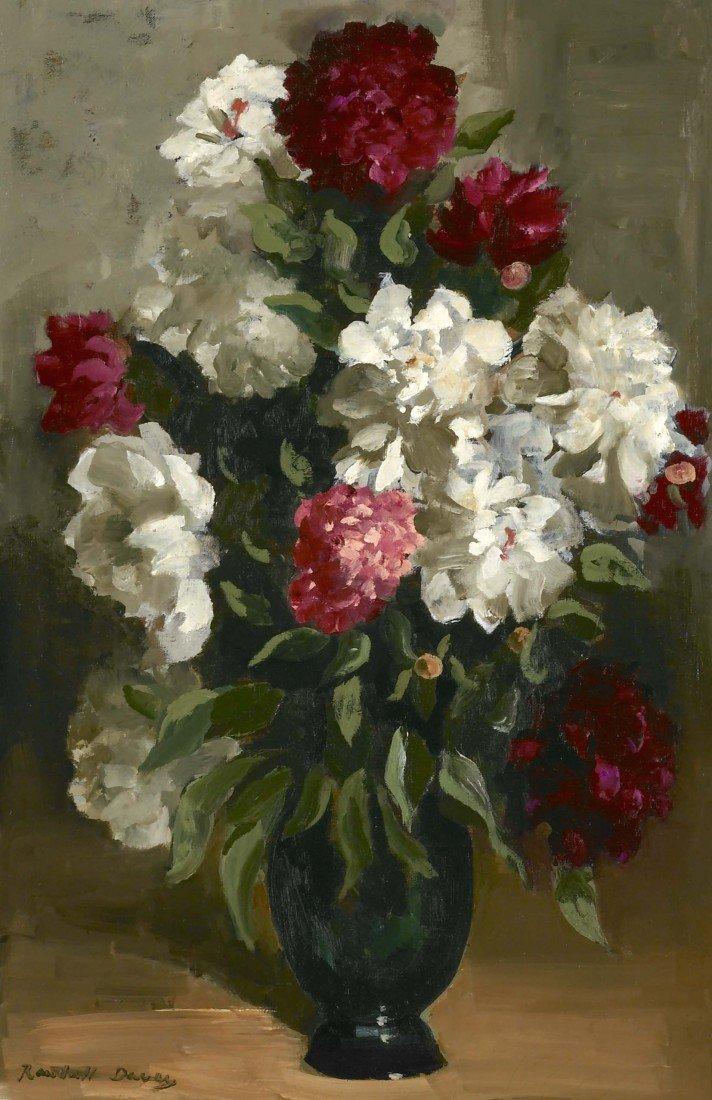 83: RANDALL DAVEY, Still Life (Peonies in Vase), ca. 19