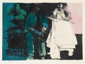 4: Leonard Baskin (1922-2000), At the Bureau, 58/100