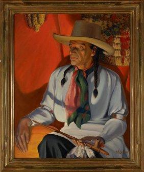 8: V.A. Lambert, Indian in Firelight
