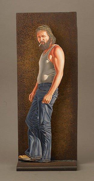 46: Otto Duecker (b.1948), Standing Man with Cigarette