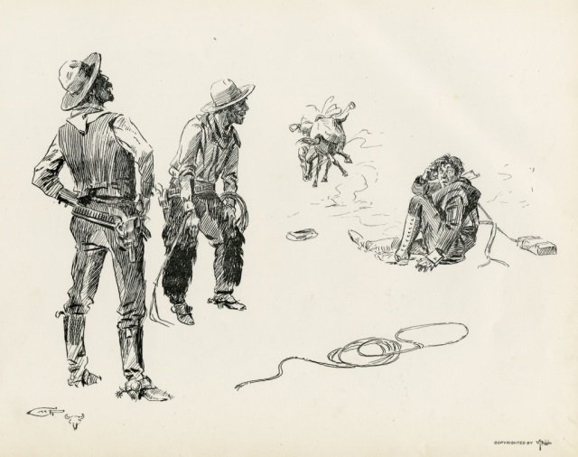 CHARLES M. RUSSELL ,  Pen Sketches By Charles M. - 10