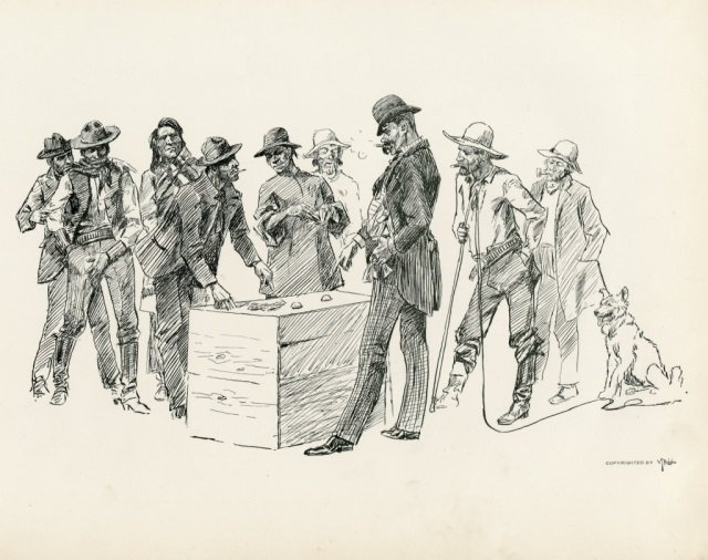 CHARLES M. RUSSELL ,  Pen Sketches By Charles M. - 2
