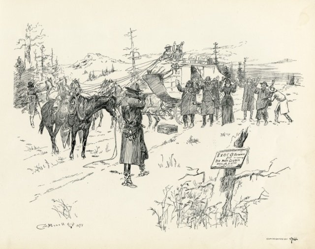 CHARLES M. RUSSELL ,  Pen Sketches By Charles M. - 3