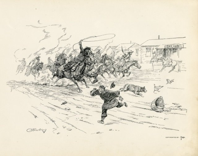 CHARLES M. RUSSELL ,  Pen Sketches By Charles M. - 5