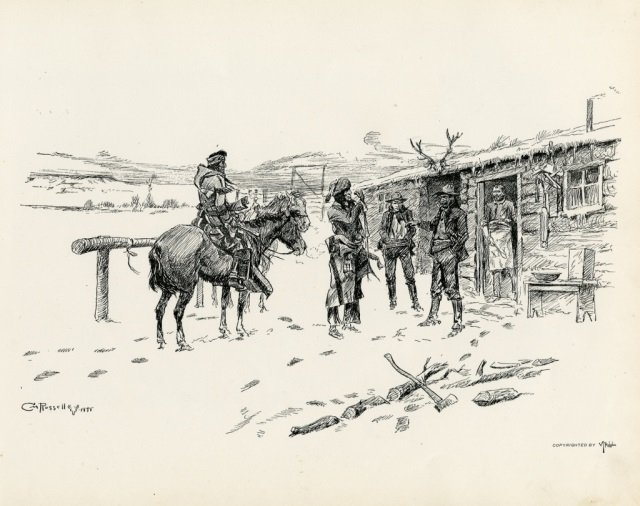 CHARLES M. RUSSELL ,  Pen Sketches By Charles M. - 6