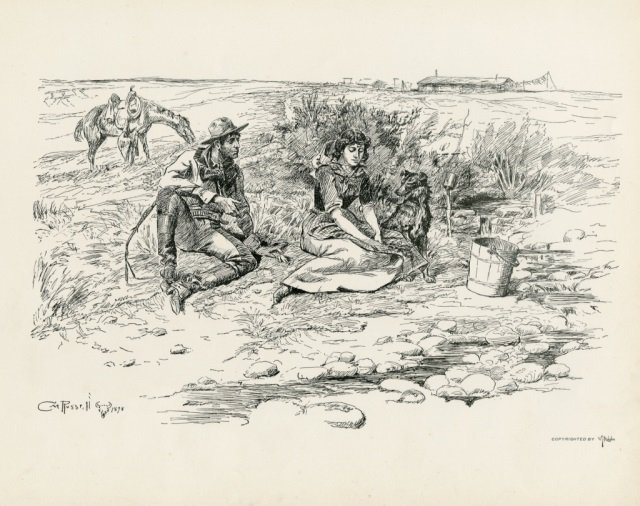 CHARLES M. RUSSELL ,  Pen Sketches By Charles M. - 7