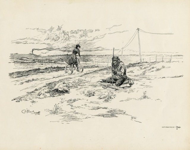 CHARLES M. RUSSELL ,  Pen Sketches By Charles M. - 9