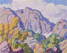 BIRGER SANDZN ,  Glimpse of Long's Peak , 1937