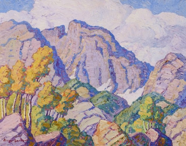 BIRGER SANDZN ,  Glimpse of Long's Peak , 1937