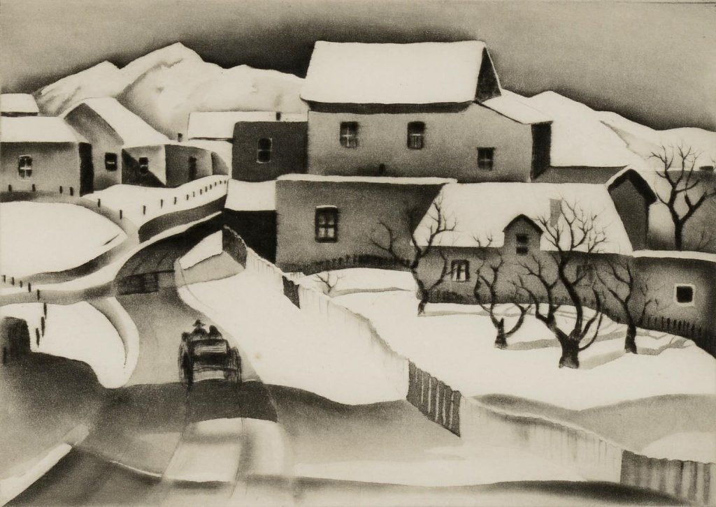 Gene Kloss ,  Taos in Winter