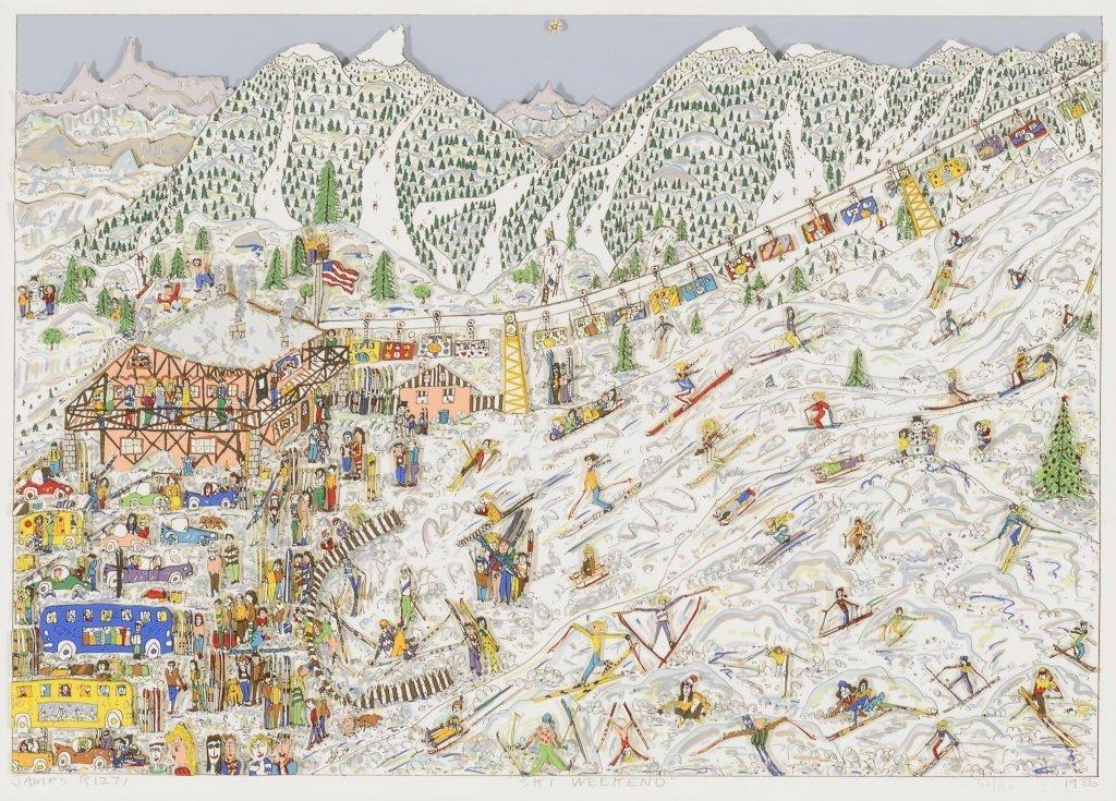 James Rizzi ,  Three Works on Paper