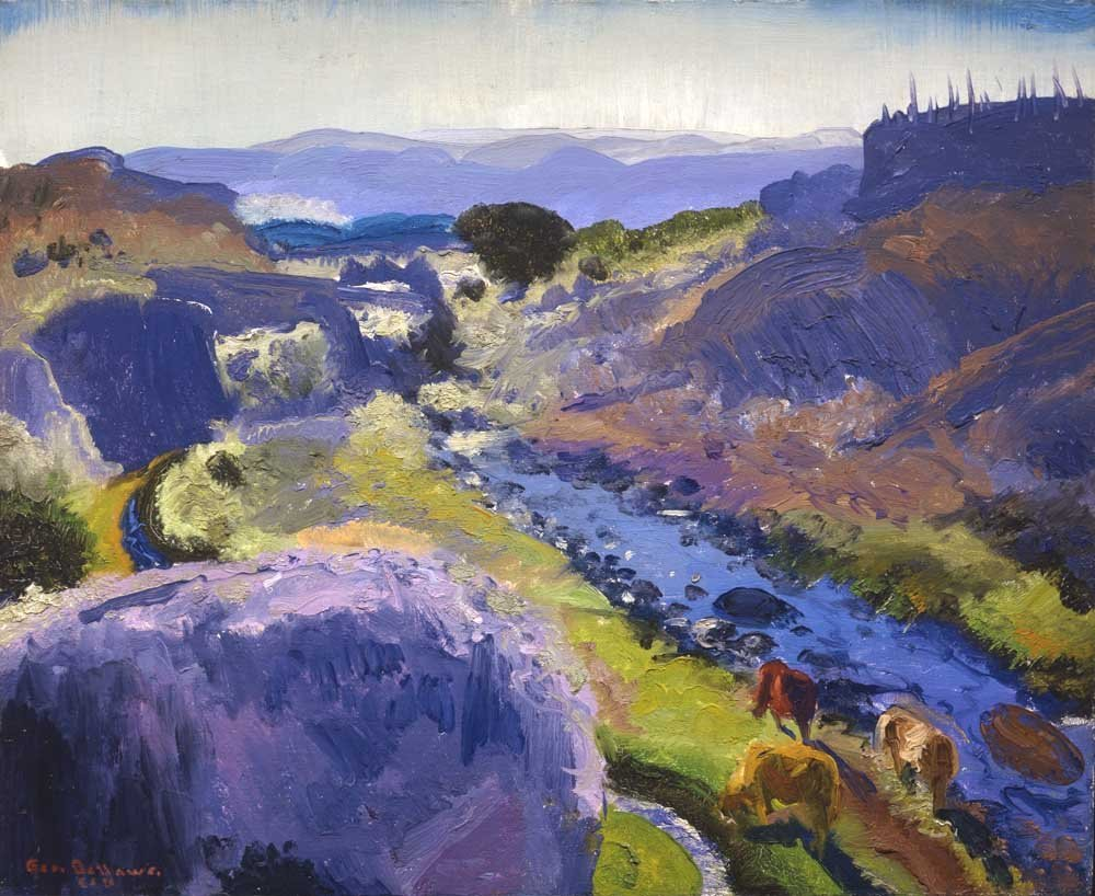George Bellows (1882-1925), Santa Fe Canyon, 1917