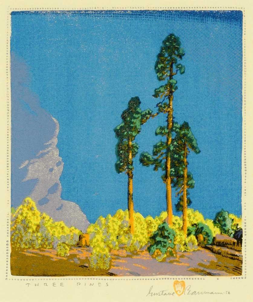 Gustave Baumann (1881-1971), Three Pines, 1956