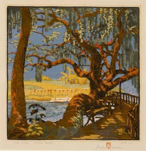 Gustave Baumann (1881-1971), Live Oak Landa Park