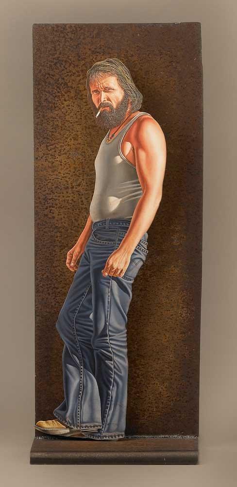 Otto Duecker (b. 1948), Standing Man with Cigarette
